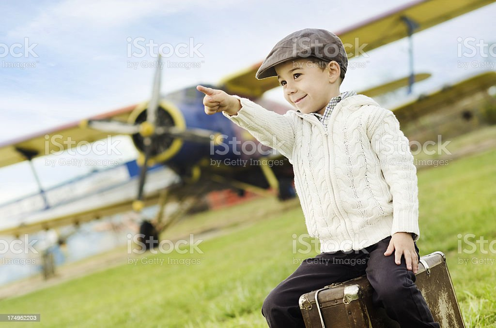 little pilot royalty-free stock photo