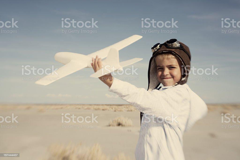 Little Pilot Portrait royalty-free stock photo