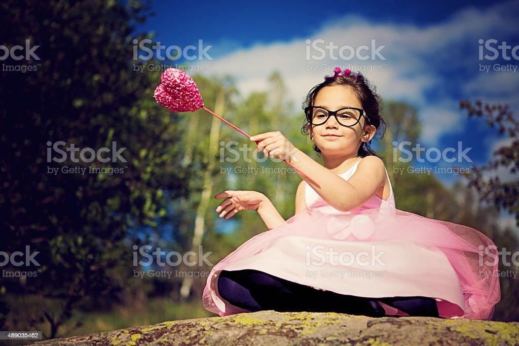 Little pink princess stock photo