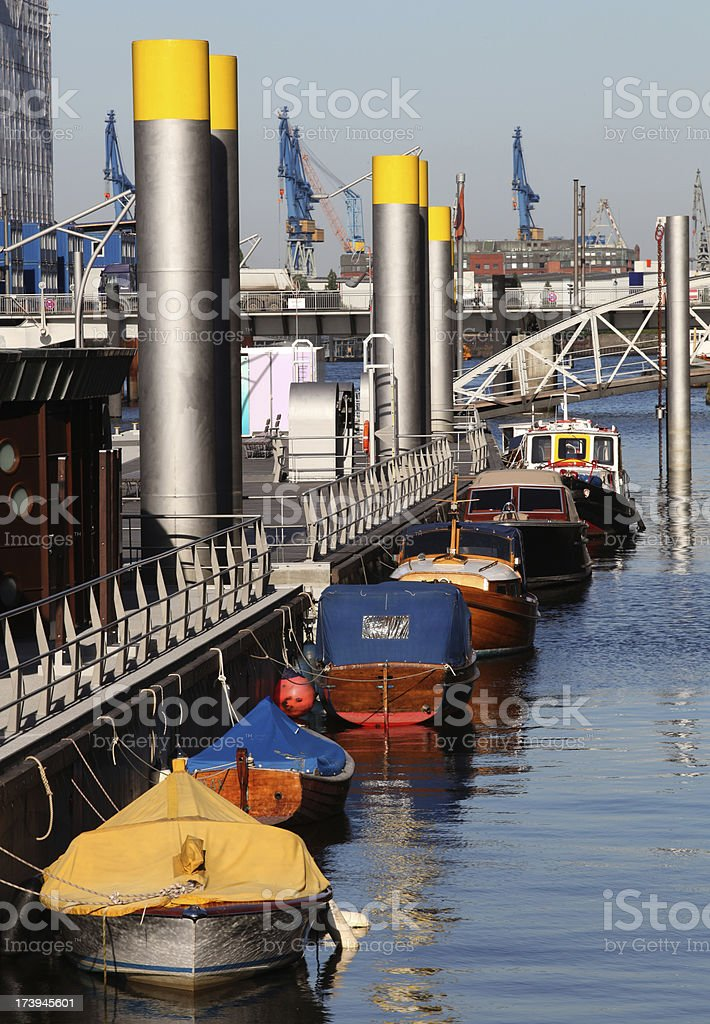 Little pivate boats stock photo