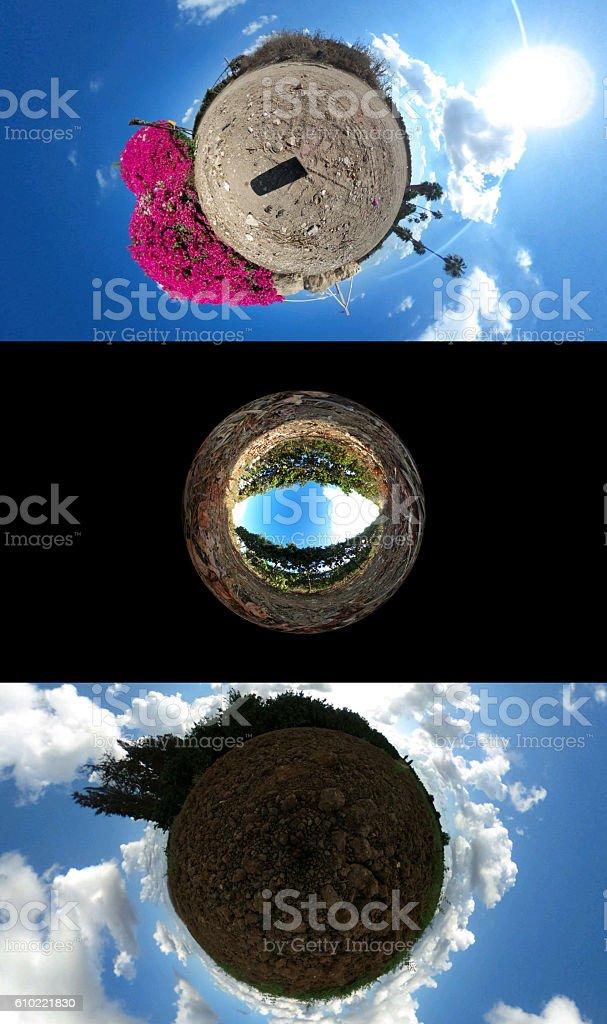 Little Planet Format stock photo