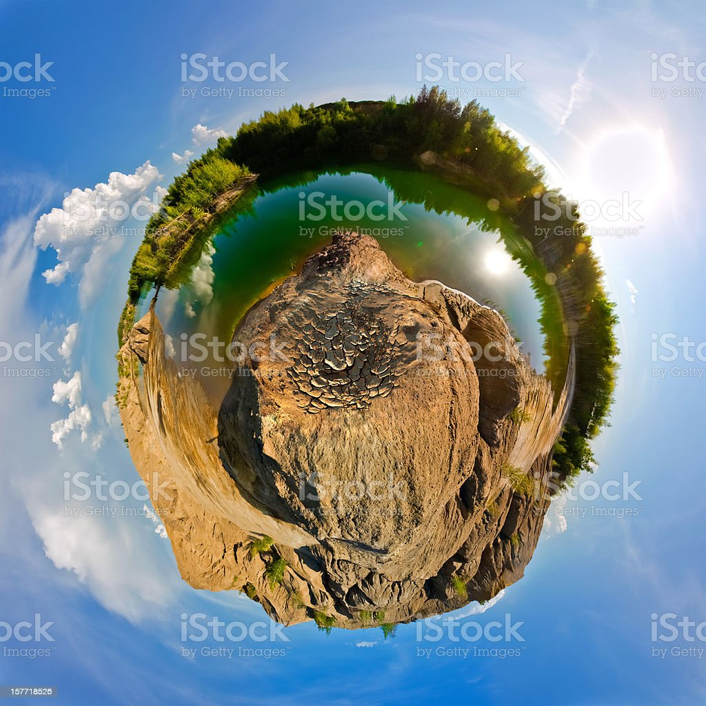Little planet. Spherical panoramic view royalty-free stock photo