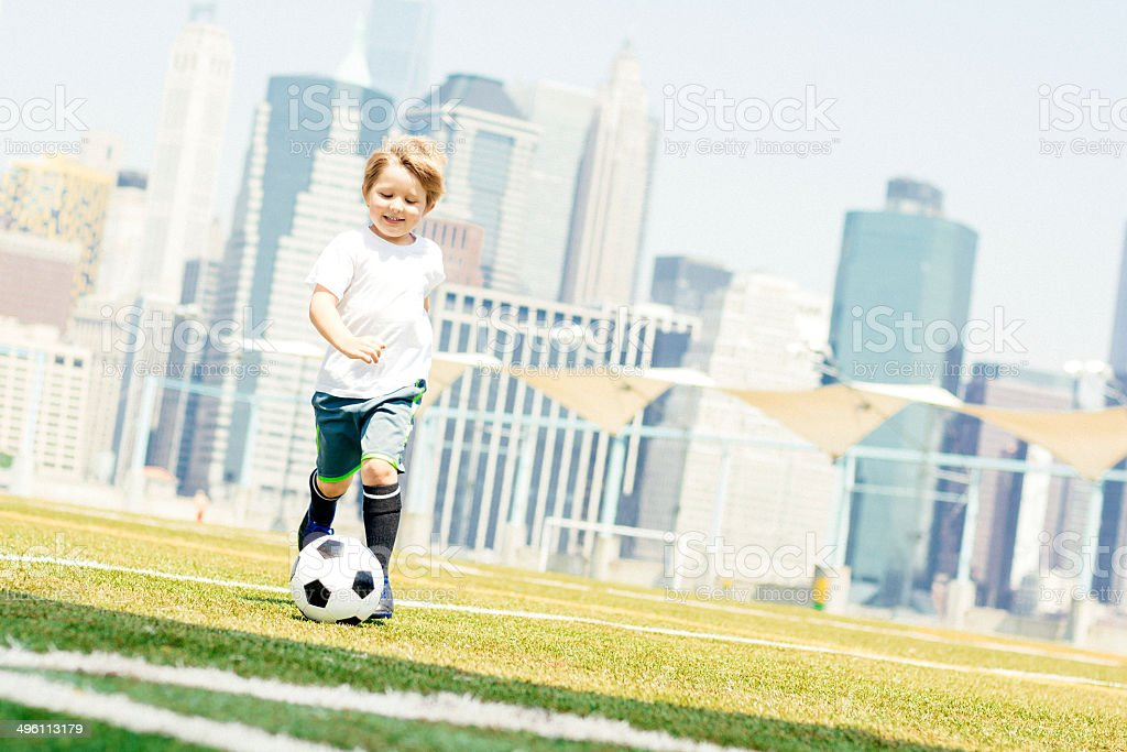 Little player royalty-free stock photo