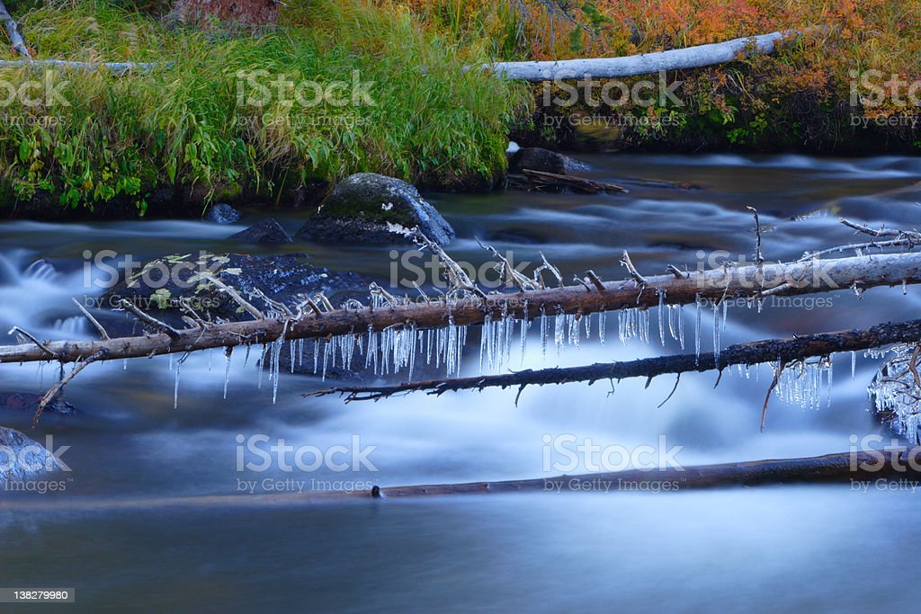Little Popo Agie River royalty-free stock photo