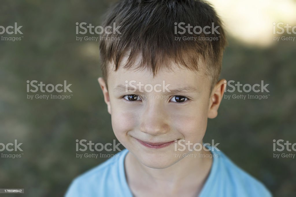 Little preschooler boy smile royalty-free stock photo
