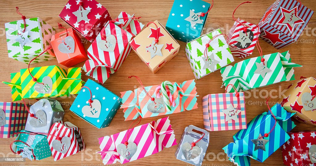 Little presents for christmas stock photo