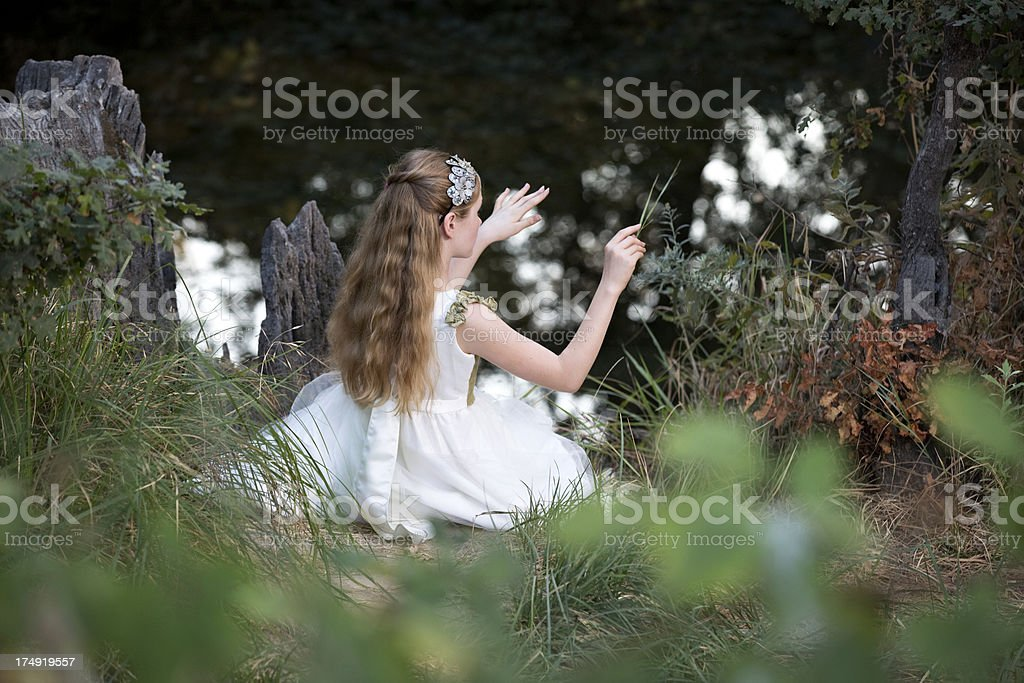 Little Princess Conducting Nature royalty-free stock photo