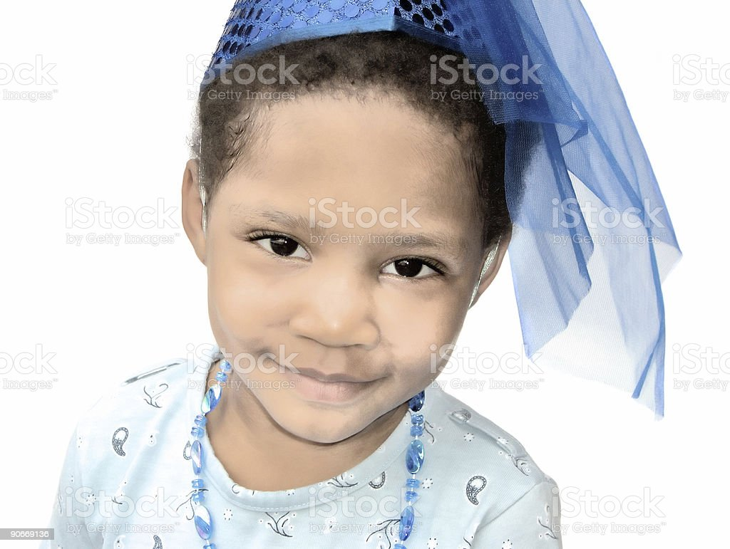 Little Princess - High Key stock photo
