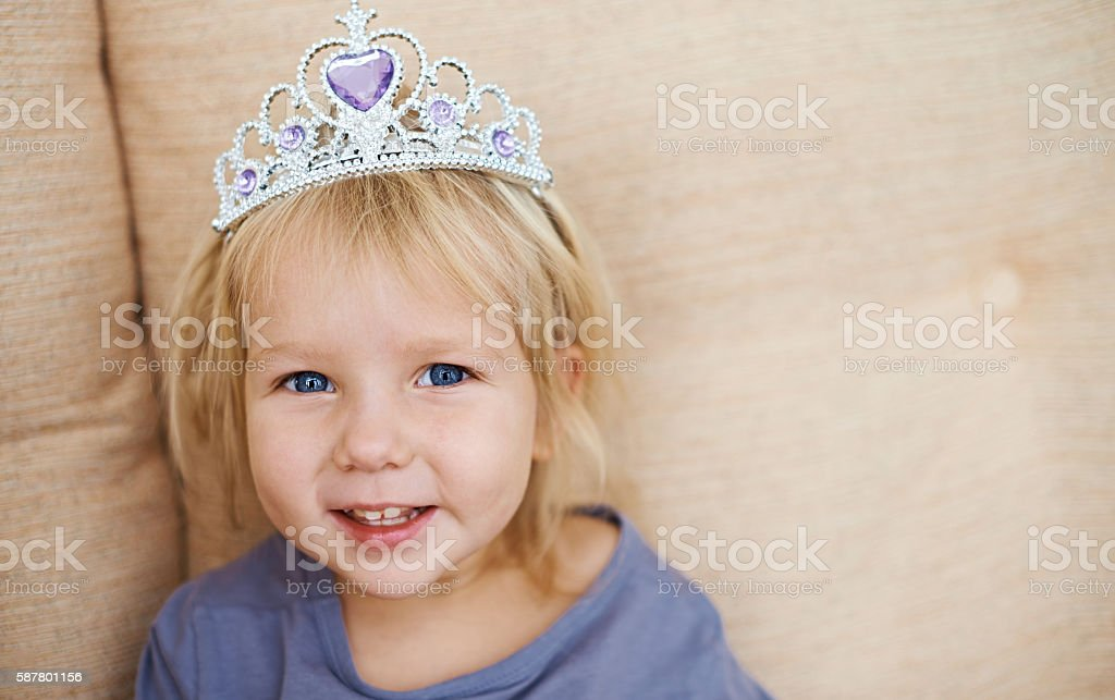 Little princess stock photo