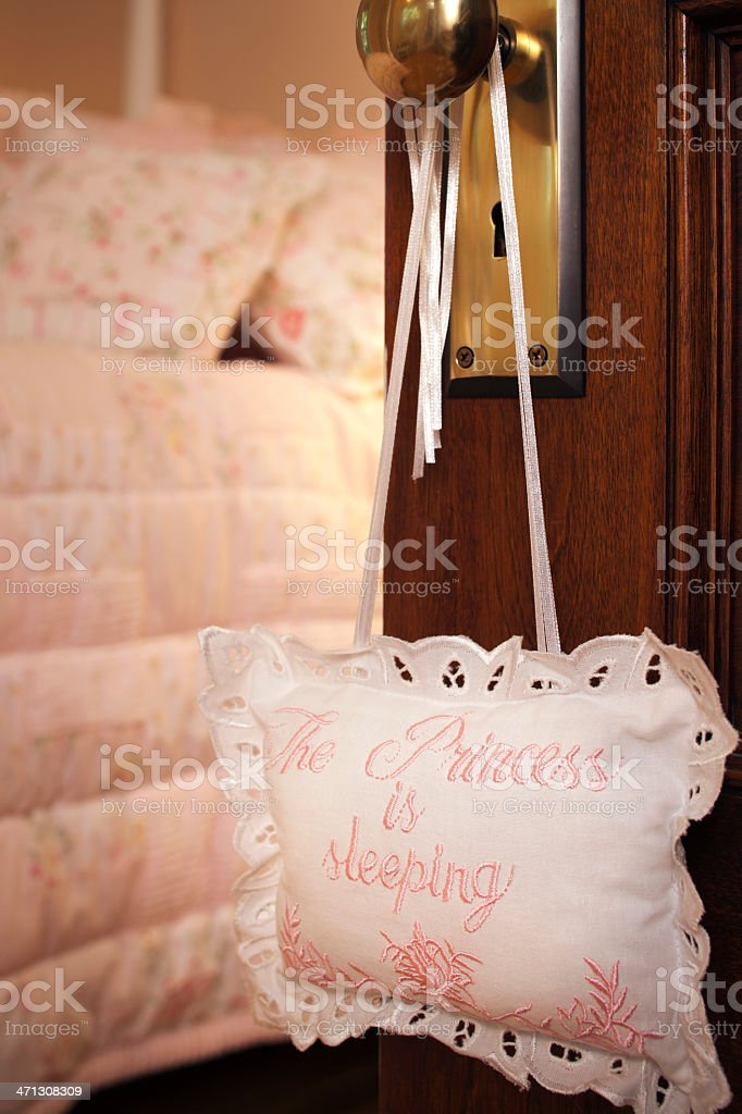 Little princess pink bedroom. royalty-free stock photo