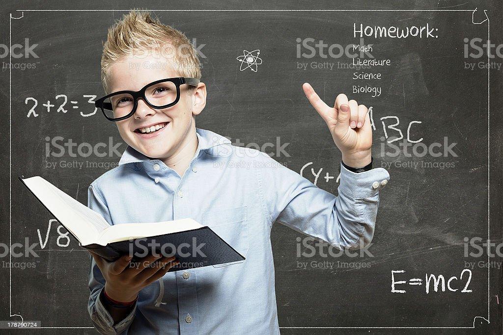 Little professor stock photo