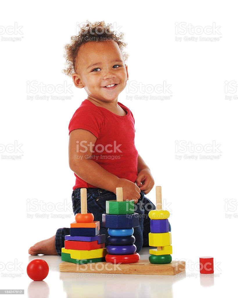 Little Puzzler royalty-free stock photo