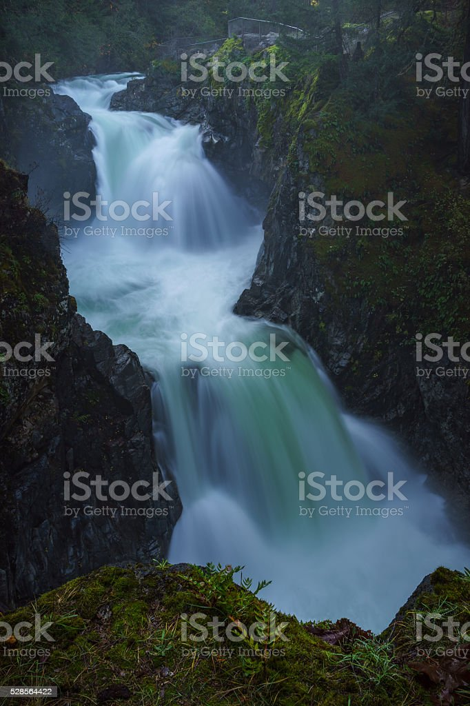 Little Qualicum Falls stock photo
