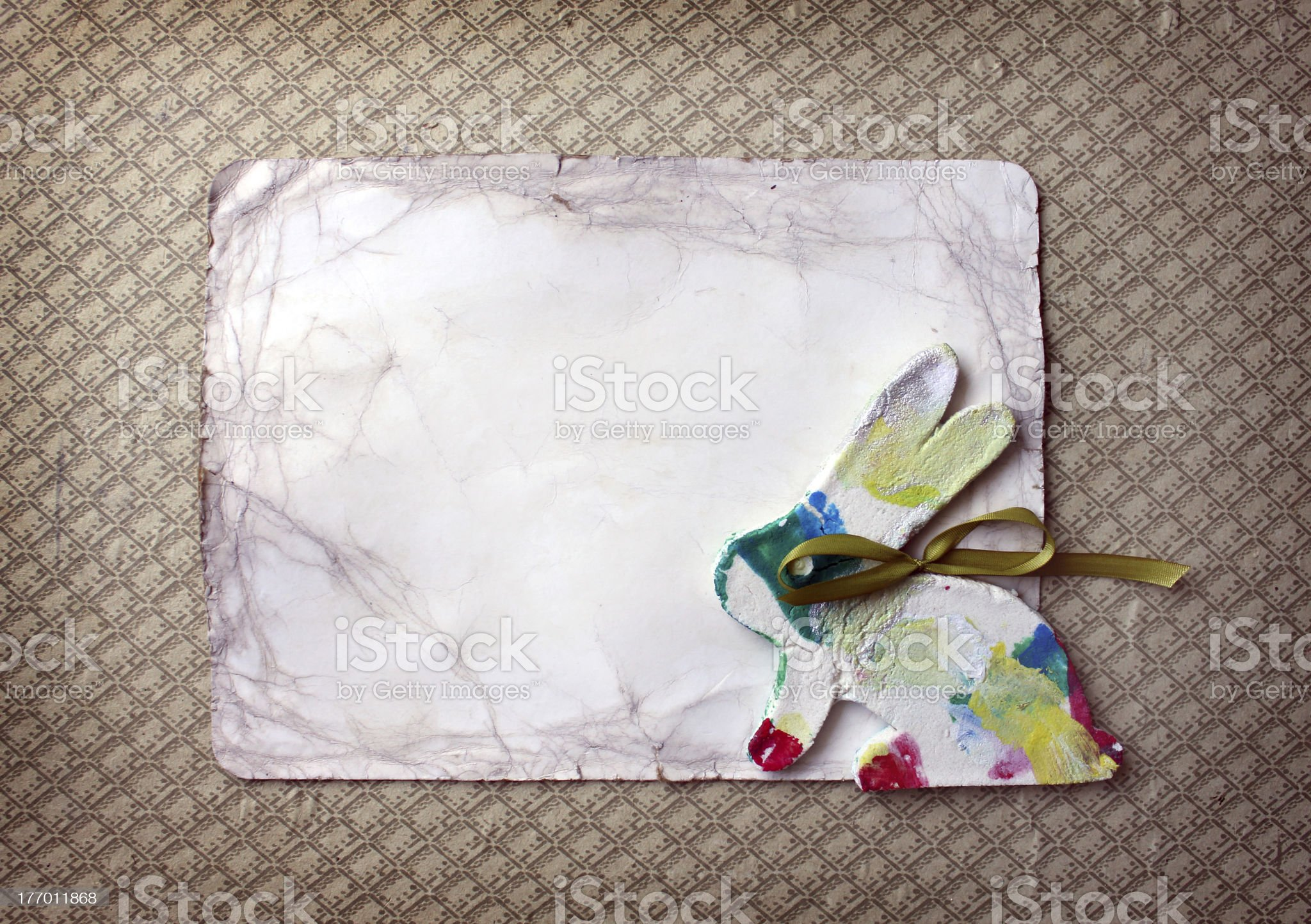 Little rabbit with paper royalty-free stock photo