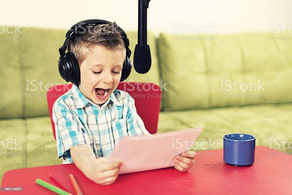 Little radio news royalty-free stock photo