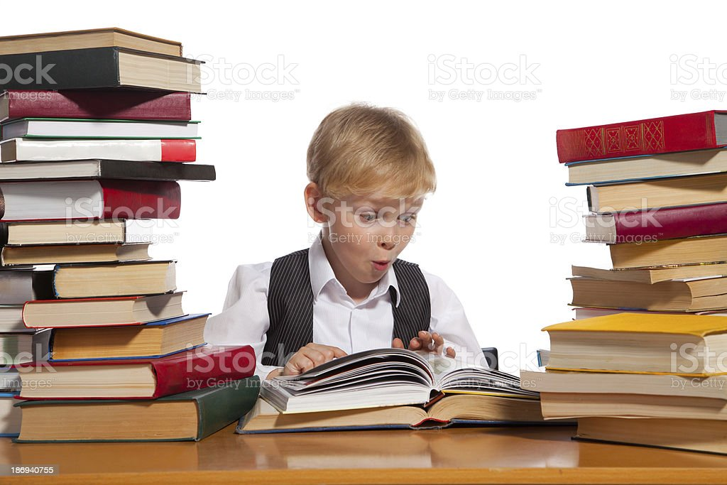 Little reader royalty-free stock photo
