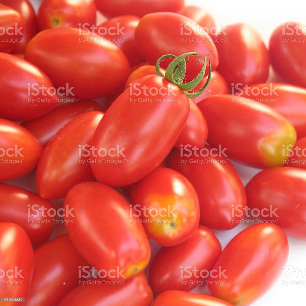 little red and yellow cherry tomatoes stock photo