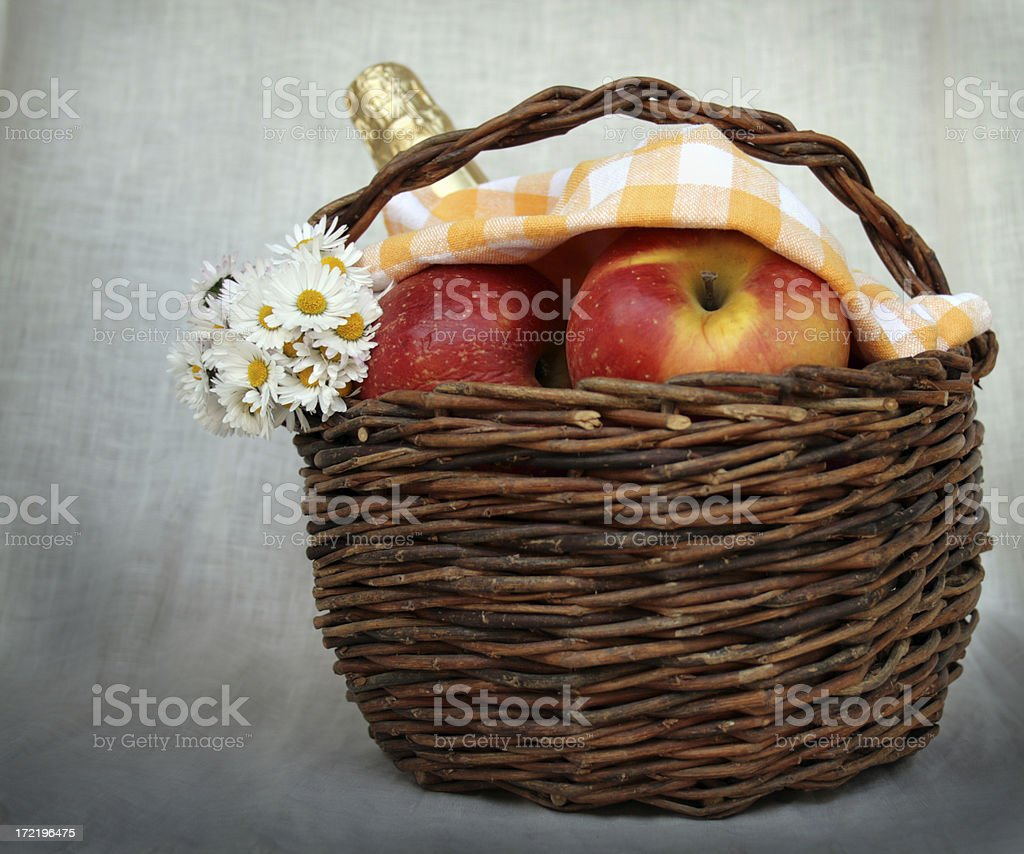 Little Red Cap's basket royalty-free stock photo