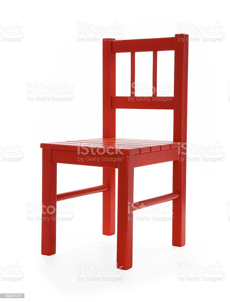 Little Red Chair LA stock photo