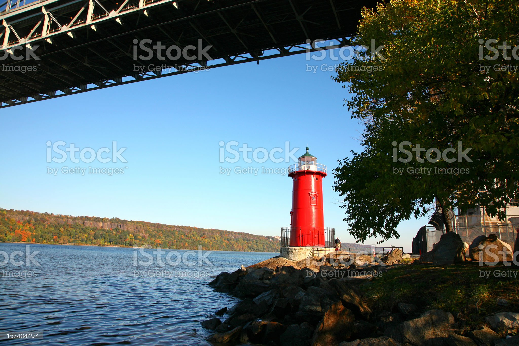 Little Red Lighthouse royalty-free stock photo