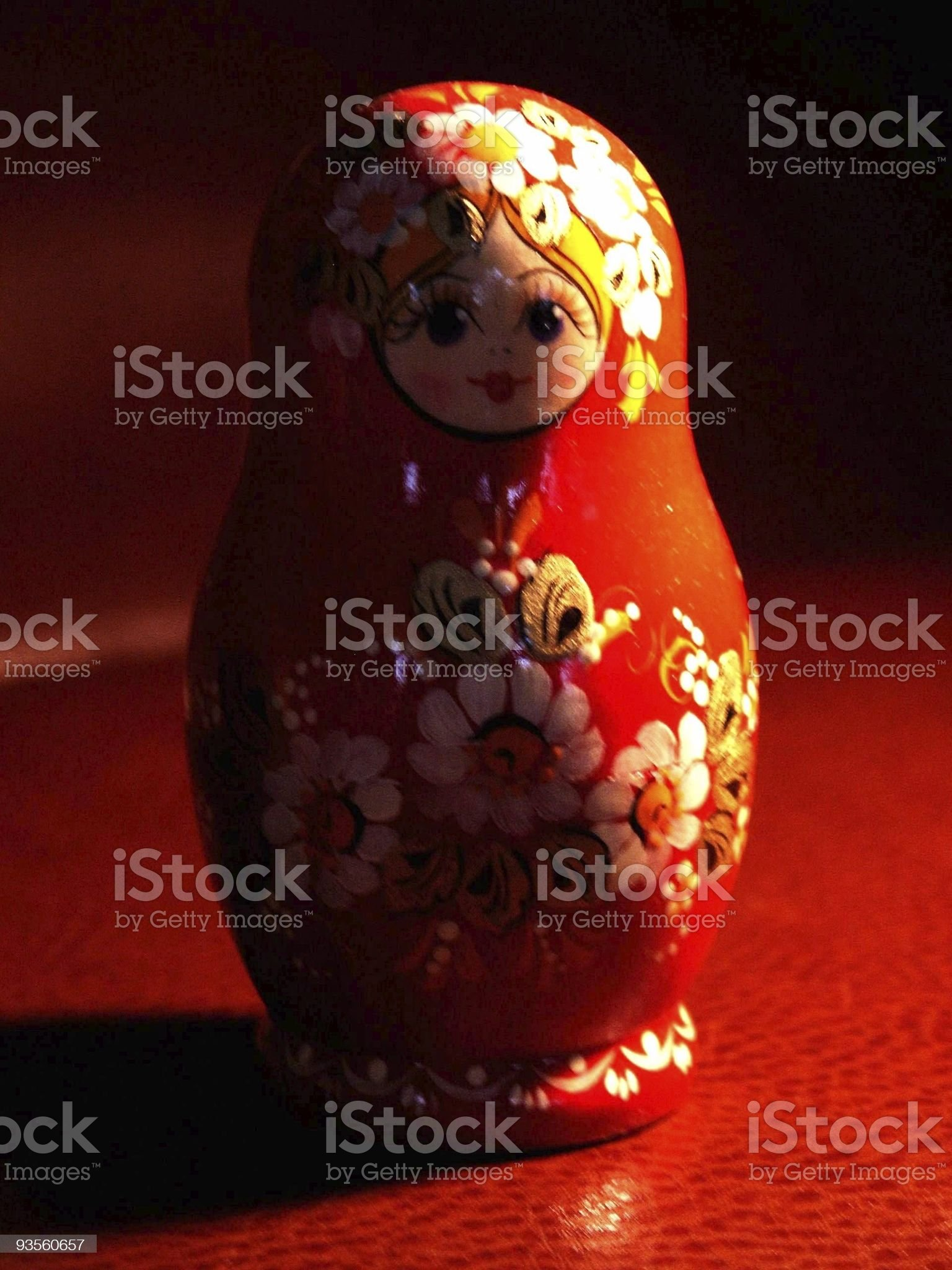 little red matriochka royalty-free stock photo