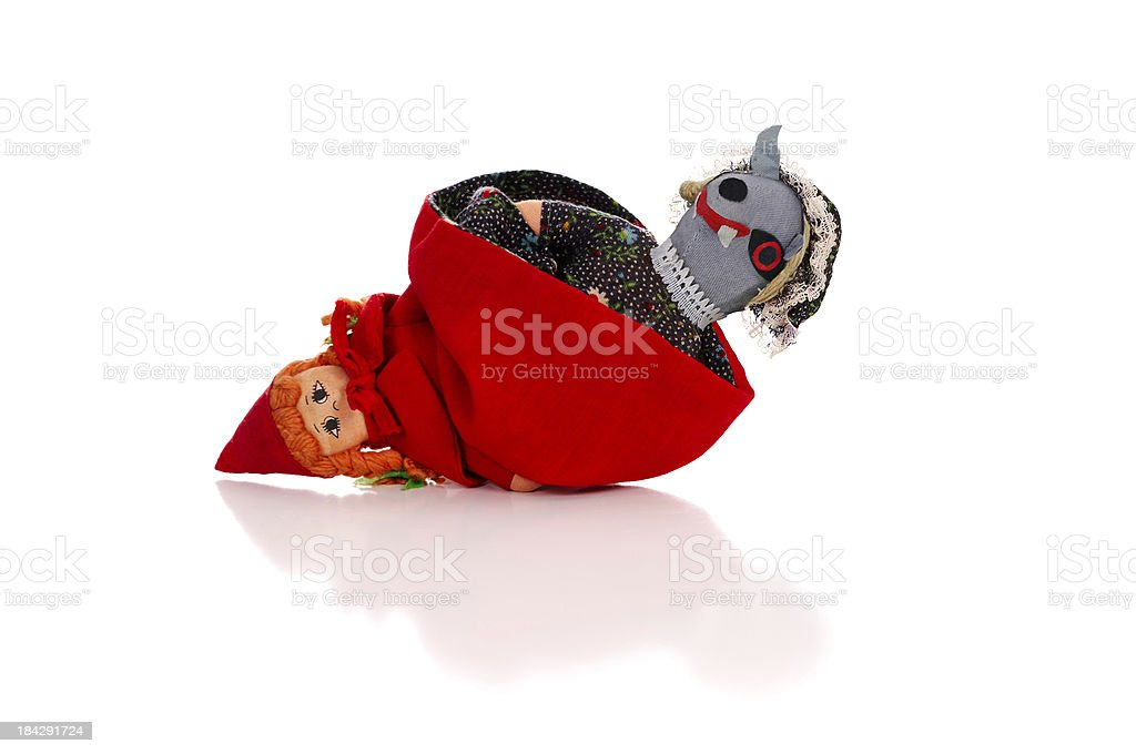 Little Red Riding Hood and Big Bad Wolf stock photo