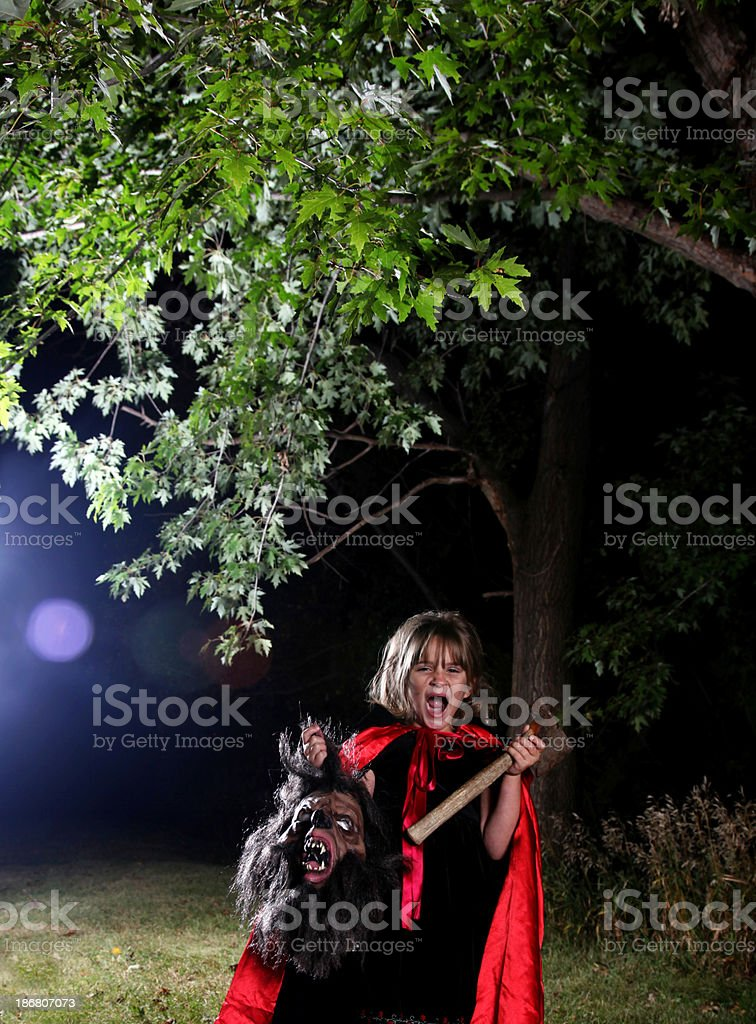 Little Red Riding Hood Revenge royalty-free stock photo