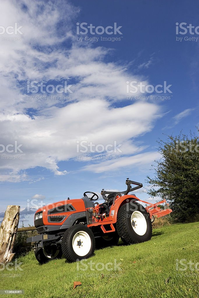 Little Red Tractor royalty-free stock photo