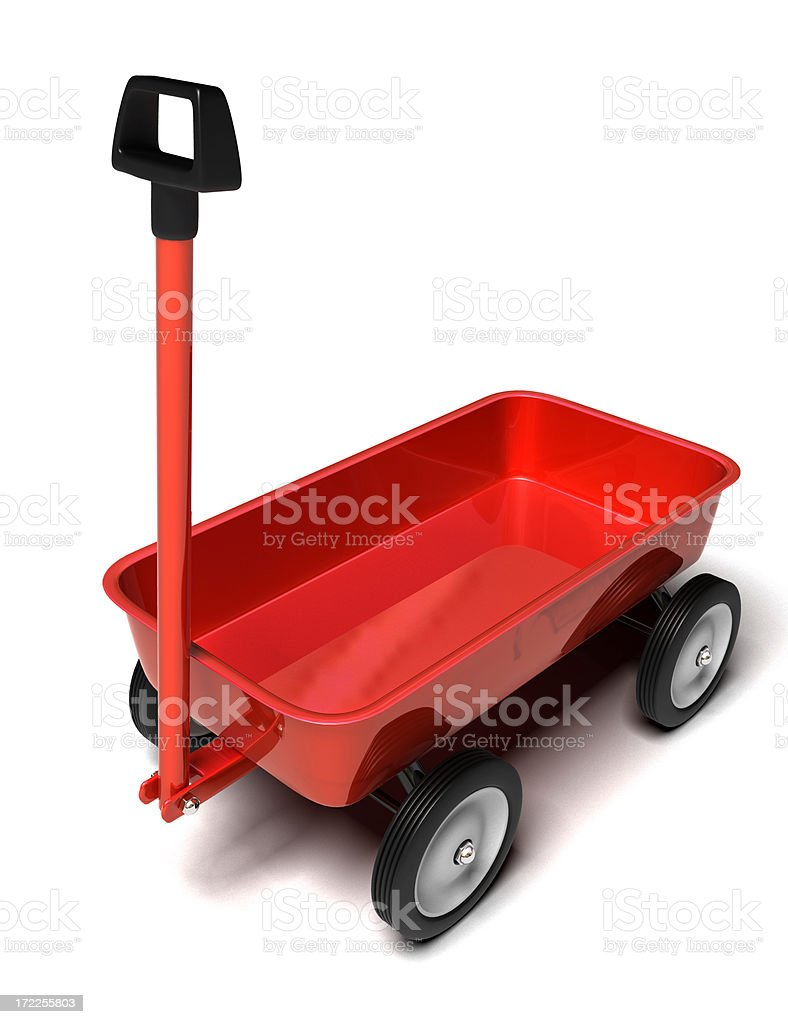 Little Red Wagon royalty-free stock photo