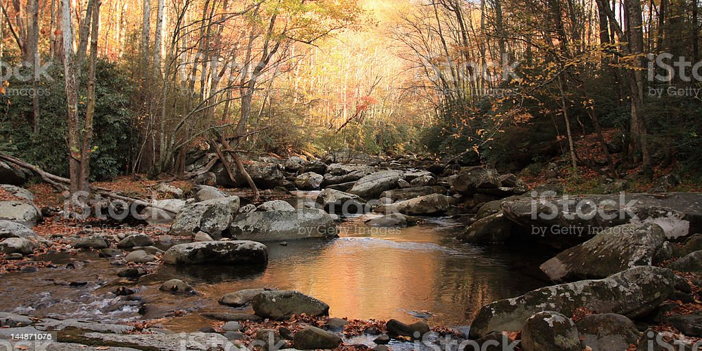 Little River at Dusk royalty-free stock photo