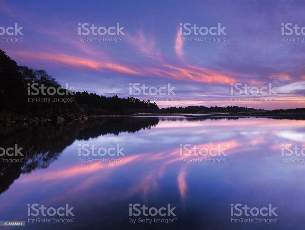 Little River Estuary Twilight stock photo