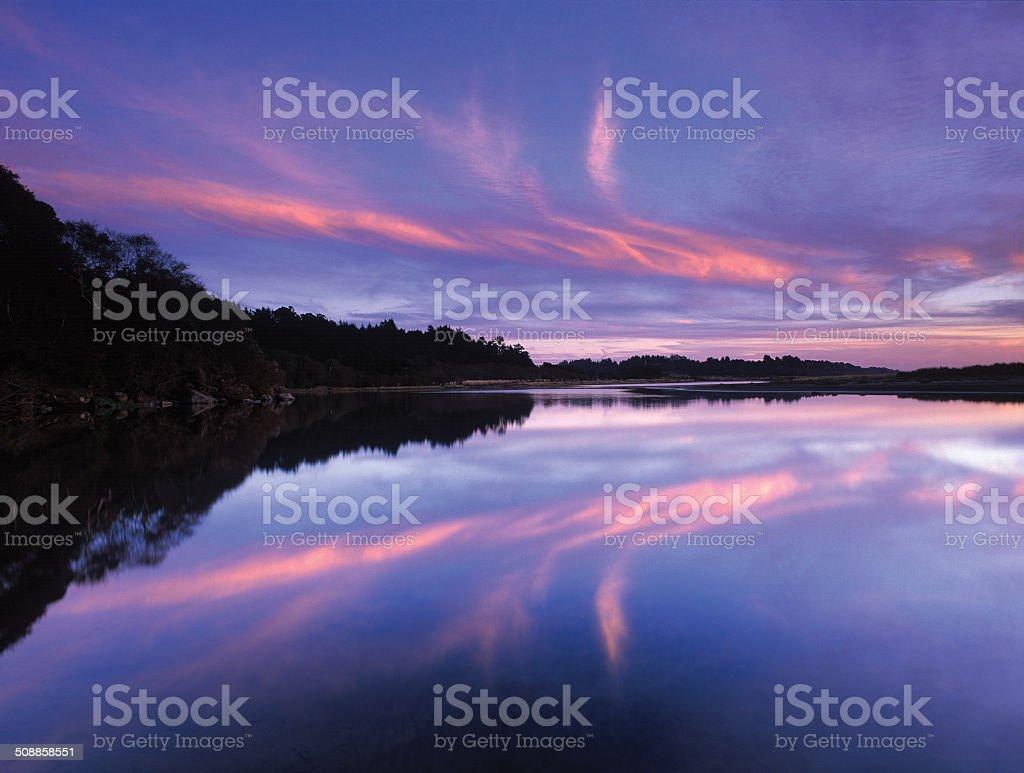 Little River Estuary Twilight stock photo