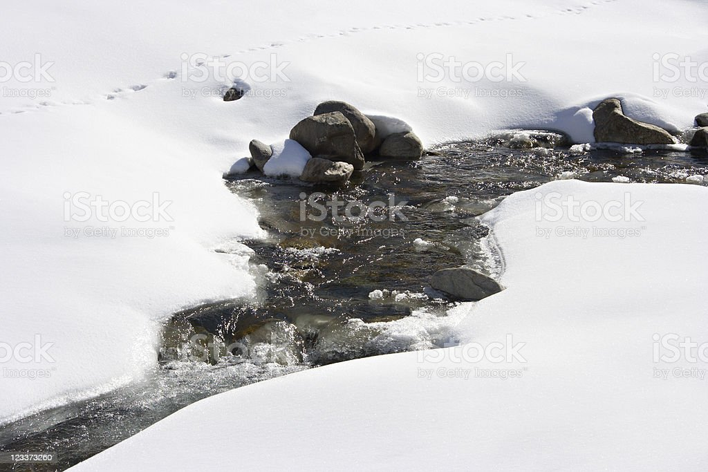 Little River In Winter royalty-free stock photo