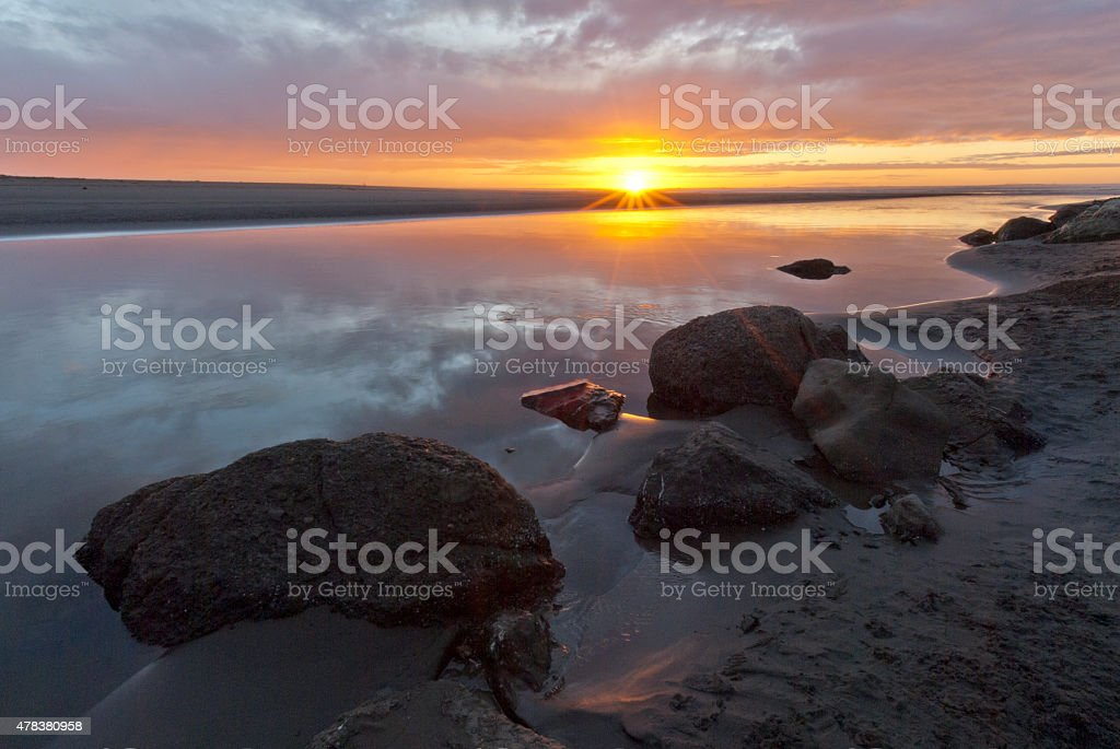 Little River Sunset stock photo