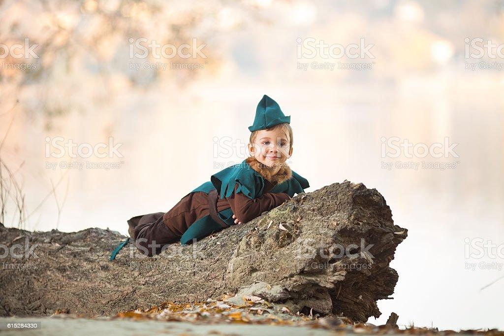 Little Robin Hood stock photo