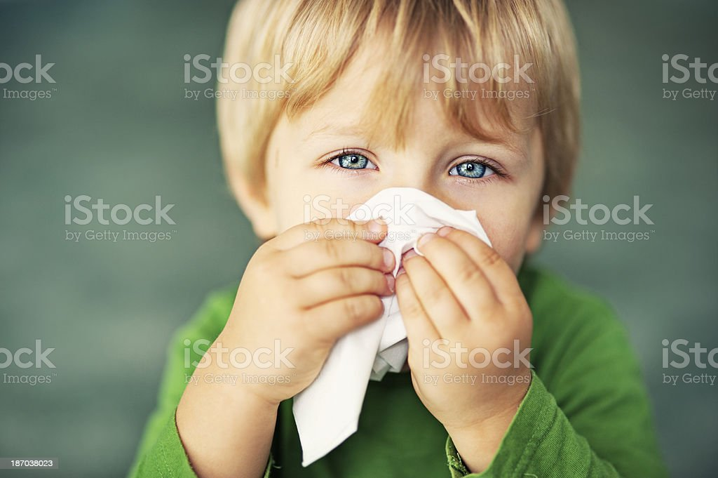 Little runny nose royalty-free stock photo