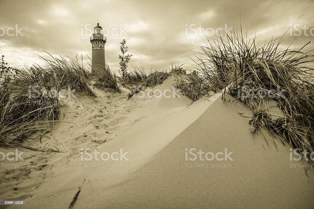 Little Sable Point Lighthouse stock photo