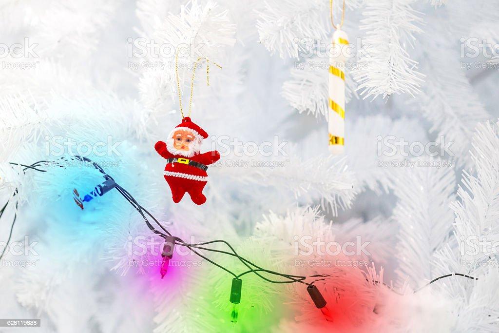 little Santa Claus doll stock photo