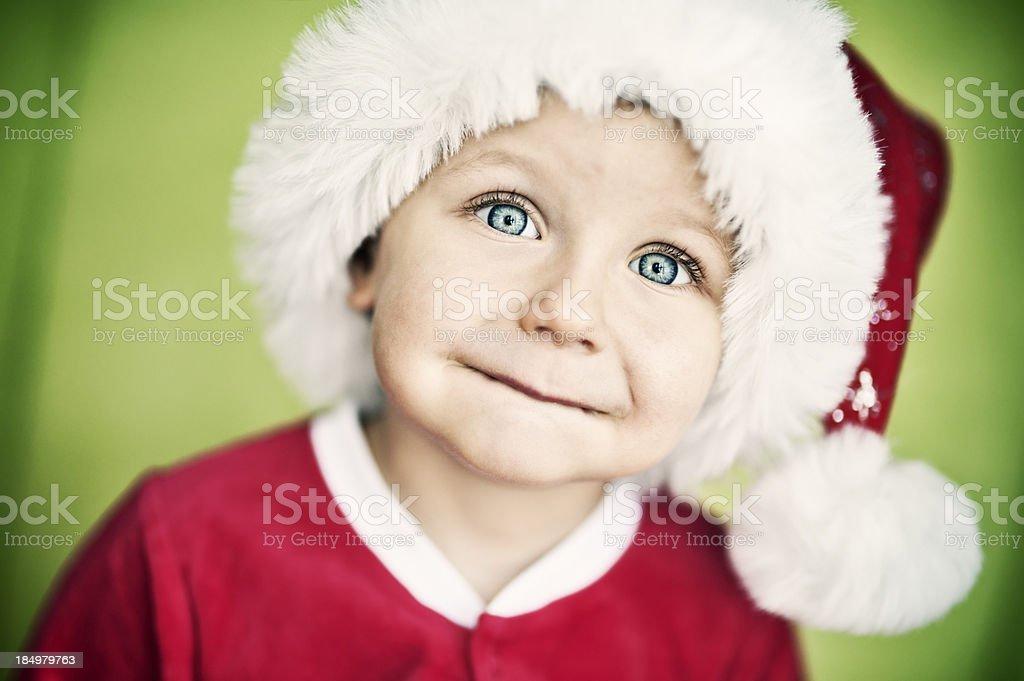 Little santa helper royalty-free stock photo