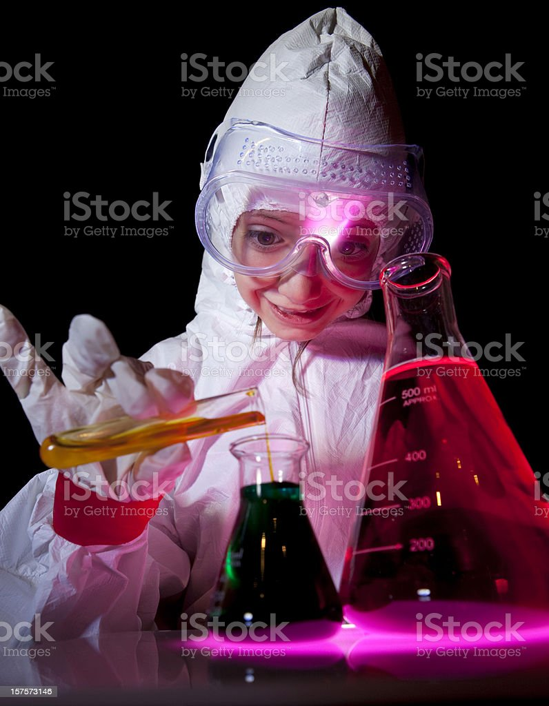 Little scientist royalty-free stock photo