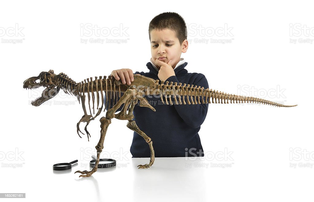 Little Scientist Thinking royalty-free stock photo