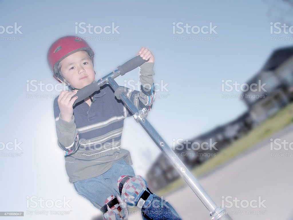 Little Scooter royalty-free stock photo