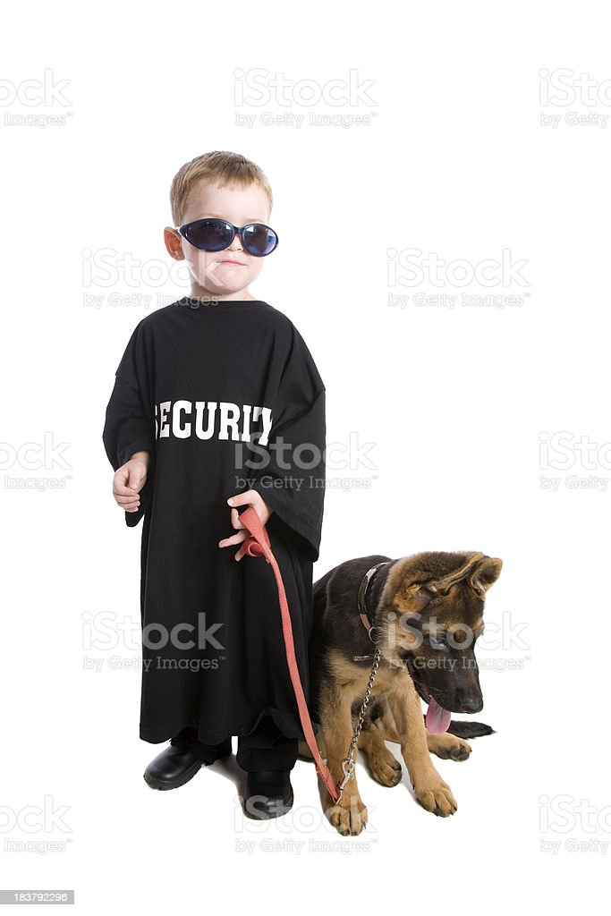 Little Security Guard royalty-free stock photo