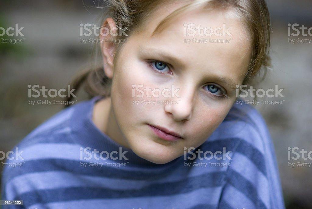 Little seriou girl royalty-free stock photo