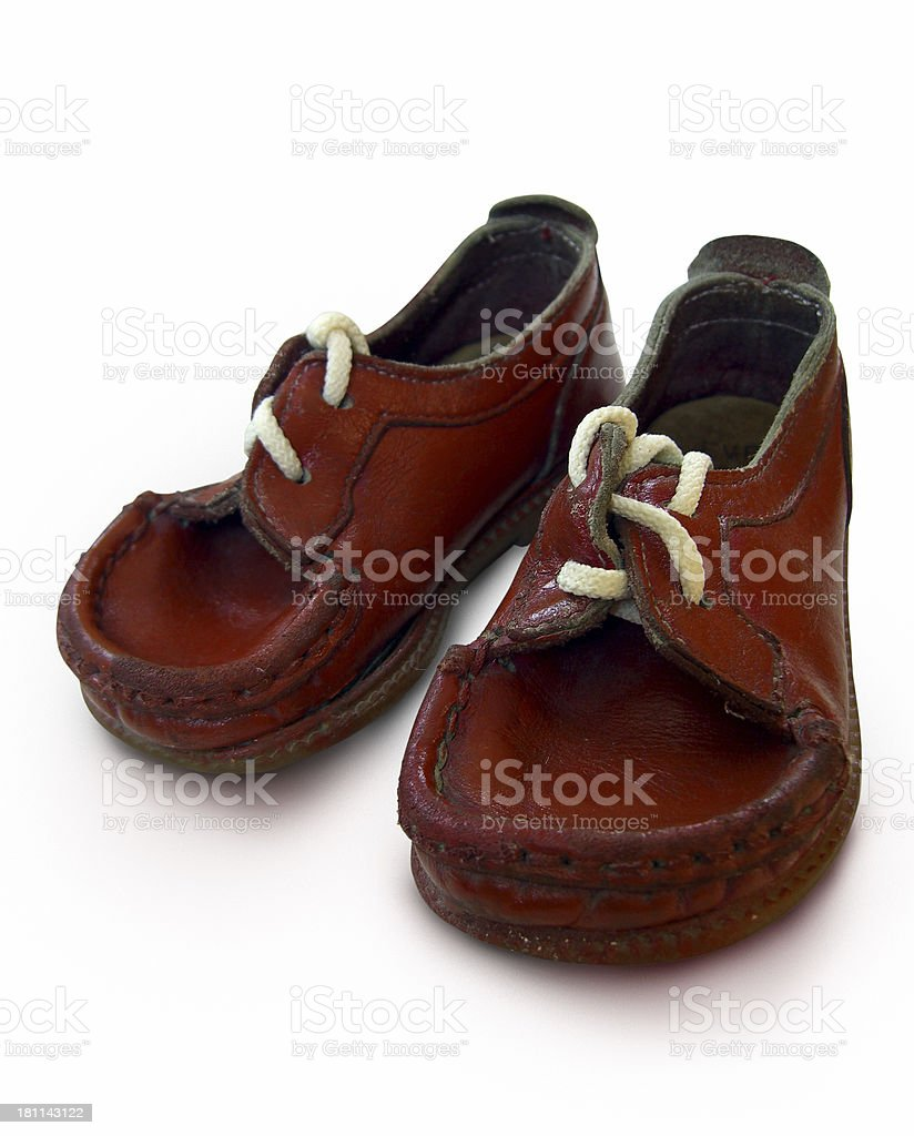 Little shoes (with clipping path) stock photo