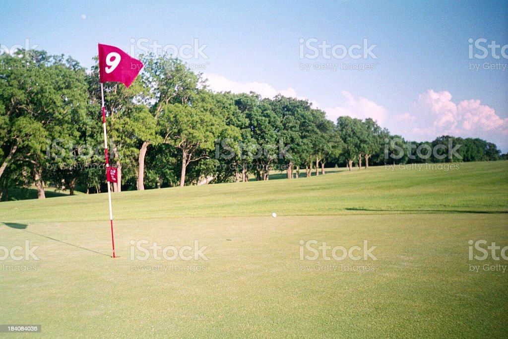 Little Sioux Golf - Hole 9 stock photo