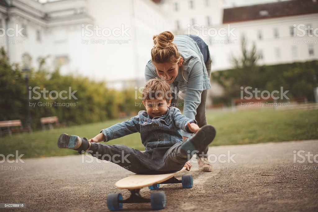 Little skater stock photo