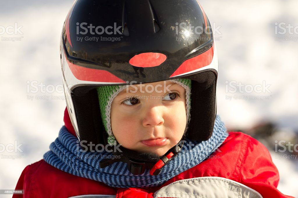 Little skier. stock photo