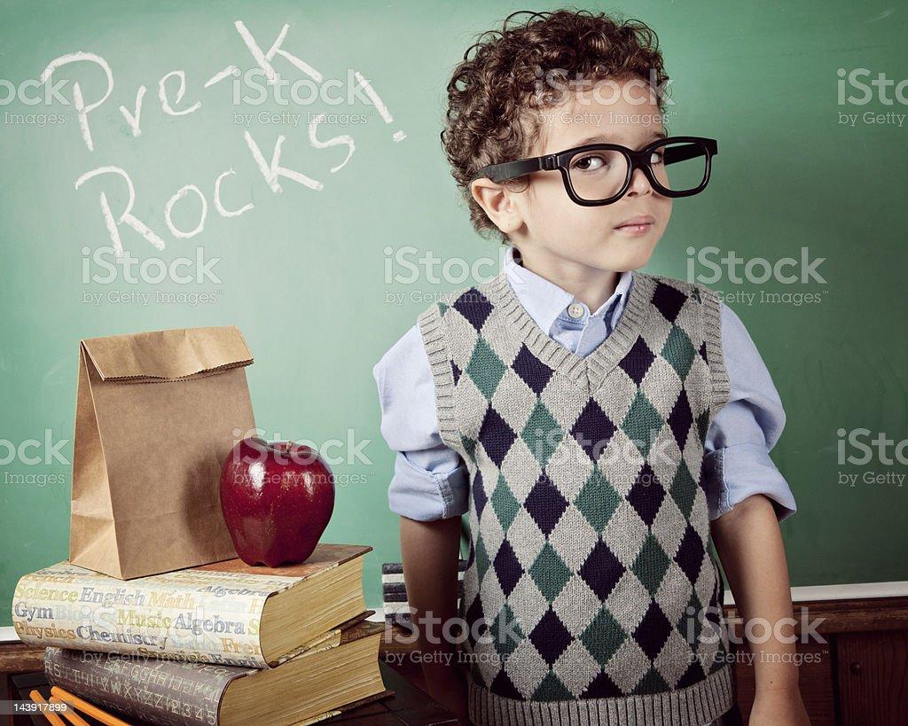 Little smart royalty-free stock photo