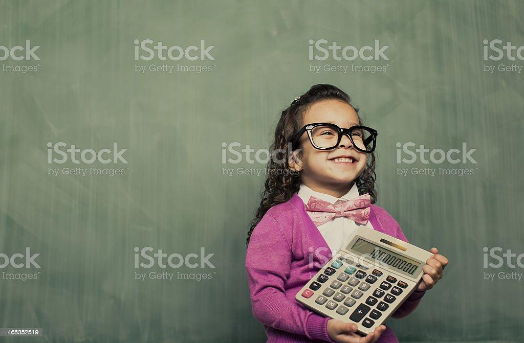 Little Smarty Girl stock photo